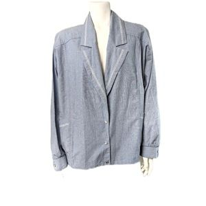 Vintage chambray cotton bomber